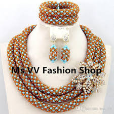 necklace with beads design images 2018 indian jewelry set 3 layers gold nigerian wedding african jpg