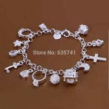 cross bracelet charm images Cute chain bracelet charms bracelet bangle heart cross free jpg