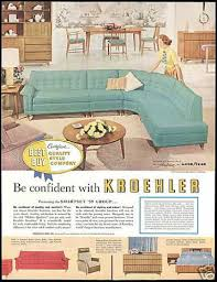 50s Bedroom Furniture by 1950s Kroehler Furniture Advertisement Want This Turquoise Sofa
