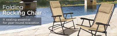Rocking Recliner Garden Chair Amazon Com Best Choice Products Folding Rocking Chair Foldable