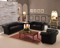 Chesterfield Sofa Design Ideas Black Chesterfield Sofa Set Catosfera Net