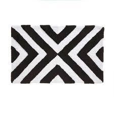 Black And White Bathroom Rugs Ravishing Black And White Striped Bath Mat Rugs Design 2018