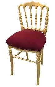 chaise bordeaux de style napoléon iii velours bordeaux et bois doré
