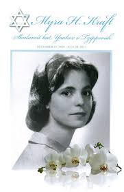 Beautiful Funeral Programs Myra Hiatt Kraft 1942 2011 Jewish Women U0027s Archive