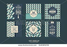 happy fathers day templates retro style stock vector 428238901