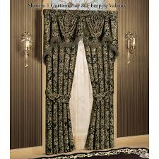 Black Curtains With Valance Imperial Damask Empire Valances And Curtains
