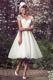 a line cap sleeves layered tulle vintage short knee length wedding