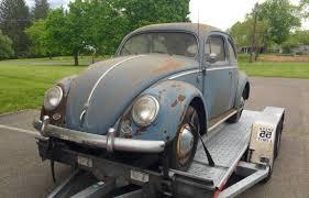 grey volkswagen bug original oval 1955 vw beetle