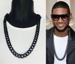 mens cuban link necklace images Mens iced out black finish rappers miami cuban link chain necklace jpg