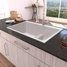 low divide drop in kitchen sink ruvati tirana low wide divide 33 x 22 double basin drop in kitchen