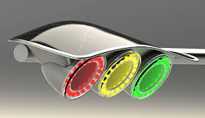 Solar Traffic Light - this concept traffic light is powered by renewable solar energy