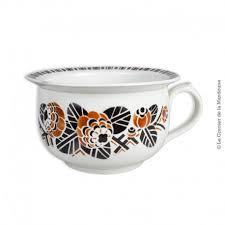 pot de chambre pot de chambre vase de nuit k et g lunéville décor pochoir à l