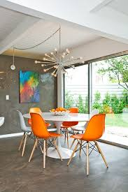Fabric Ideas For Dining Room Chairs Dining Room Dazzling Orange Dining Room Chairs Decorating Ideas