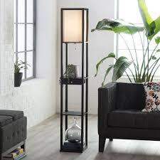 Rustic Floor Lamps Rustic Floor Lamp With Shelves The Natural Shine In Rustic Floor