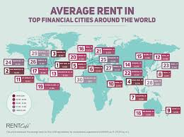 Average Apartment Rent By Zip Code Competitiveness With A Twist U2014rents In Top Financial Centers Of The