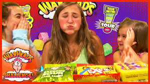 extreme sour warheads challenge by girls kids candy fun youtube
