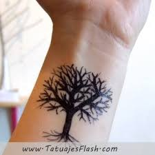 fantastic wrist tree design in black tree meanings