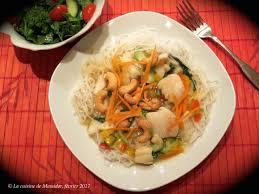 cuisine chinoise poisson la cuisine de messidor poisson à la chinoise sur vermicelles de riz