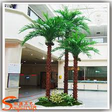 15 ft plastic and metal material decorative outdoor palm trees