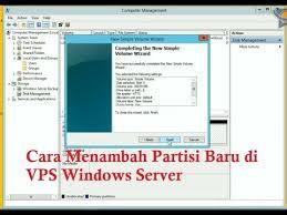 membuat database baru di sql server cara membuat partisi baru di vps windows server youtube