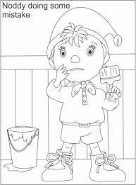free cartoon noddy coloring books kids coloringbooks7