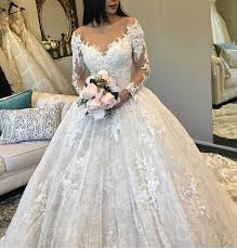 gown wedding dresses vintage sleeves lace gown wedding dresses illusion
