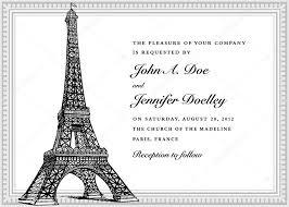 eiffel tower wedding invitations vector eiffel tower wedding invitation stock vector