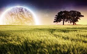 planet farm trees landscape wallpapers hd wallpapers