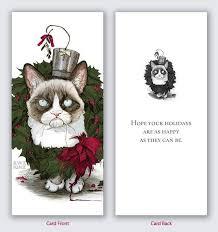 grumpy cat christmas cards u2013 happy holidays