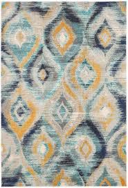 safavieh cowhide rugs safavieh monaco blue yellow area rug deco pinterest yellow