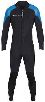blue jumpsuit mens thermoprene pro s front zip jumpsuit henderson aquatics