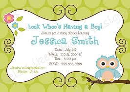items similar to custom blue owl boy baby shower invitation on etsy