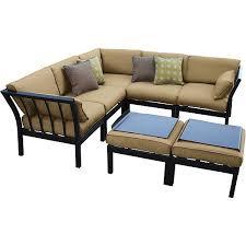 Mainstays Ragan Meadow II Piece Outdoor Sectional Sofa Seats - Outdoor sectional sofas