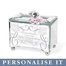 personalized granddaughter gifts personalised glass granddaughter melody box my