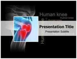 download online human knee powerpoint template and background with