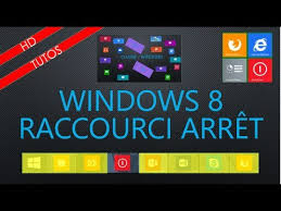 windows 8 raccourci bureau fr raccourci arrêt sur bureau de windows 8