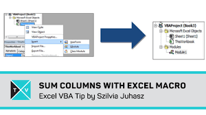 sum multiple columns with excel macro excel vba tips youtube