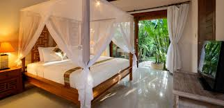Bedroom Side View by Gorgeous Tropical Villas In Bali