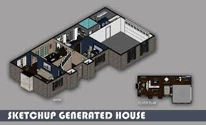 auto use floor plan sketchup generated house emily lambrow archinect