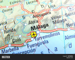 Map Of Malaga Spain by Map With Focus Set On Malaga Spain Stock Photo U0026 Stock Images