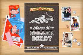 custom cards custom roller derby cards retro 50 series cards