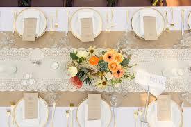 lace burlap and gold reception table decor elizabeth anne