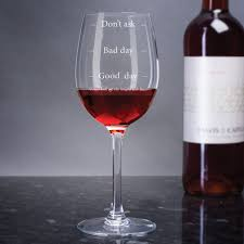 Wine Glass Personalised Wine Glass Good Day Bad Day Don U0027t Ask