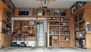 Wood Shelving Plans Garage by Garage Shelves To Keep Your Small Appliances Green Ladder Wooden