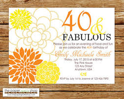 40th birthday invite etsy