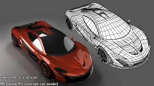 concept mclaren mclaren p1 3d car cgtrader