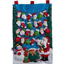 mittens and advent calendar felt applique kit stitch