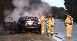 car reportedly on fire before finally stopping on mid cape u2026 route