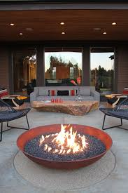 Contemporary Firepit Fabric Pit With Patio Contemporary And Contemporary Pits
