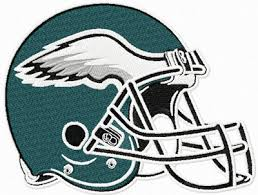 philadelphia eagles helmet machine embroidery design